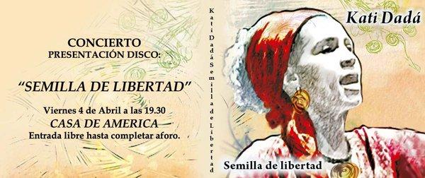 PRESENTACIÓN :SEMILLA DE LIBERTAD CASA AMÉRICA DE MADRID