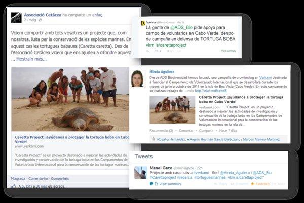 Caretta Project en las redes sociales