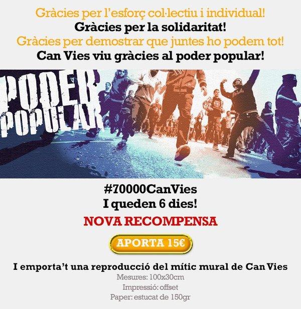 #ReconstruïmCanVies aconsegueix 70.000 euros per la seva reconstrucció