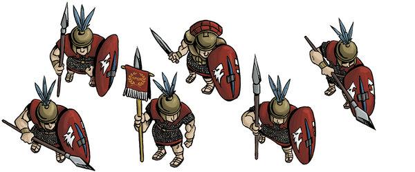 Unidad de Triarii romanos