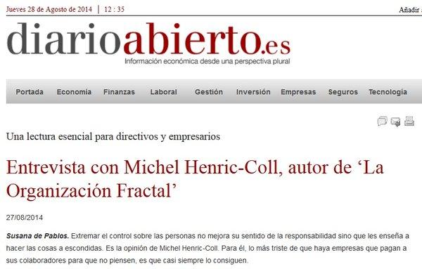 Artículo y entrevista en Diario Abierto