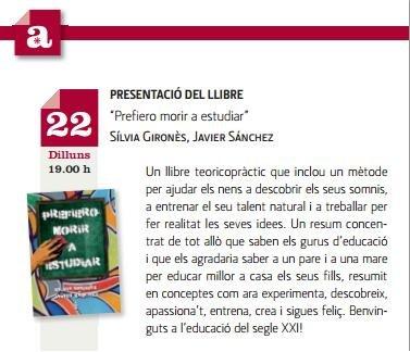 """22 de Setiembre en el Corte Inglés Portal Angel: Presentación del libro """"Prefiero morir a estudiar"""""""