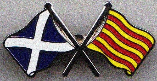 Catalonia Scotland Independence badges