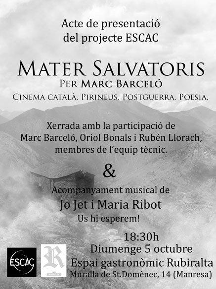 Presentació del projecte a Manresa + Concert Jo Jet i Maria Ribot