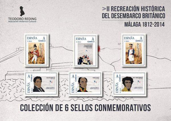 Sellos conmemorativos Málaga 1812