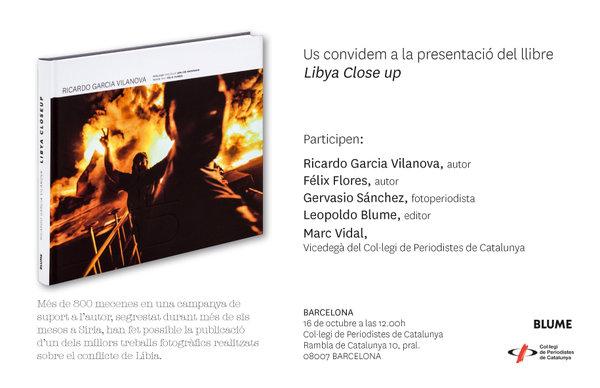 Presentación del libro LIBYA CLOSE UP de Ricardo Garcia Vilanova- BARCELONA