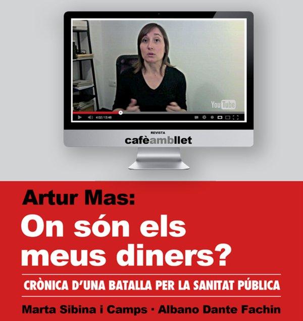 """Fragmento de la portada de """"Artur Mas: On són els meus diners?"""""""