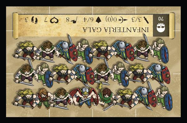 Carta de infantería gala