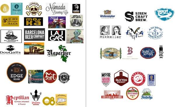Aquí tenéis algunas de las marcas con las que trabajaremos!!!
