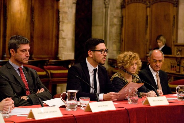 d'esquerra a dreta els ponents: Jordi Martí Galbis, Roger Heredia Jornet, Carme Barrot Feixat i Josep Cruanyes Tor