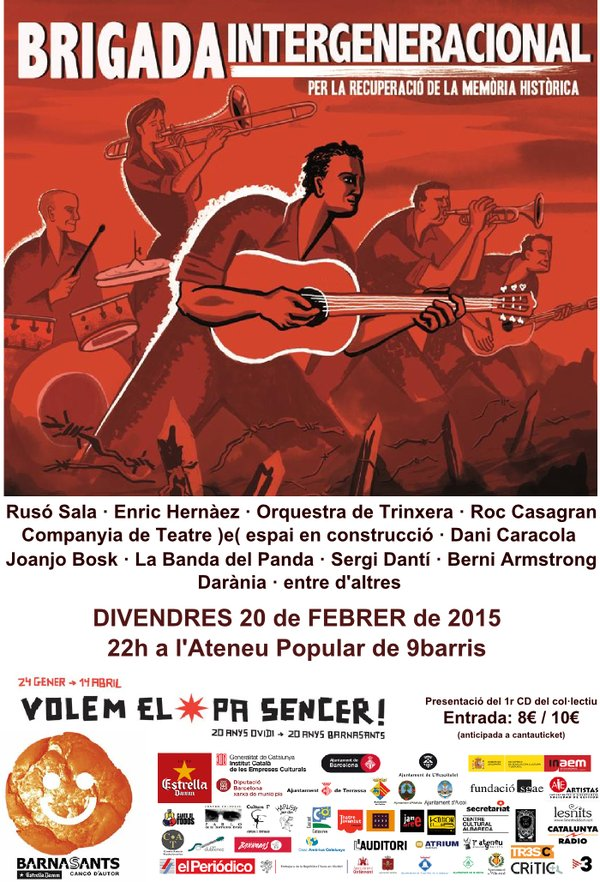 Aquest divendres concert de presentació del CD a l'Ateneu Popular de 9Barris