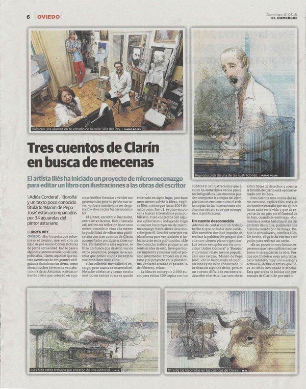 Articulo sobre este proyecto en el diario El Comercio