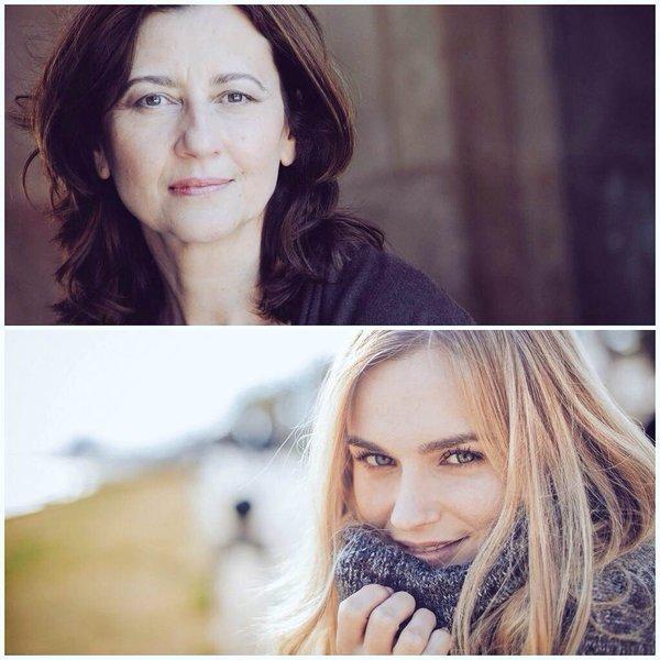 Nuestras actrices: María Victoria Llena y Garazi Beloki.