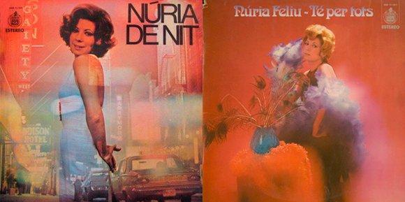 Nuria Feliu vinils 3 i 4 nuria de nit 1972 - te per tots 1973