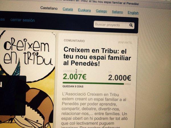Ja tenim els 2.000 euros a 10 dies del final!! Arribarem als 2.500??