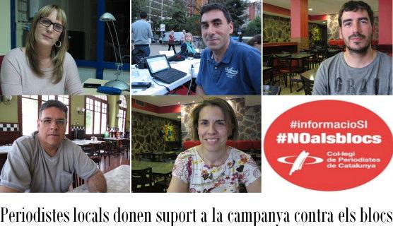 Periodistes locals donen suport a la campanya #NOalsblocs