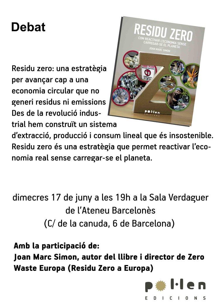 Debat sobre el Residu zero: Joan Marc Simon a l'Ateneu barcelonès