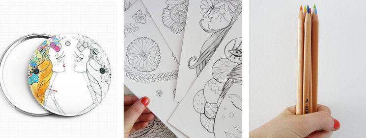 Chicas de papel para colorear — Verkami