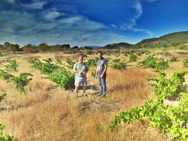 Con el propietario del viñedo de garnacha en Cebreros (ávila), D. Ángel Sastre Reviejo