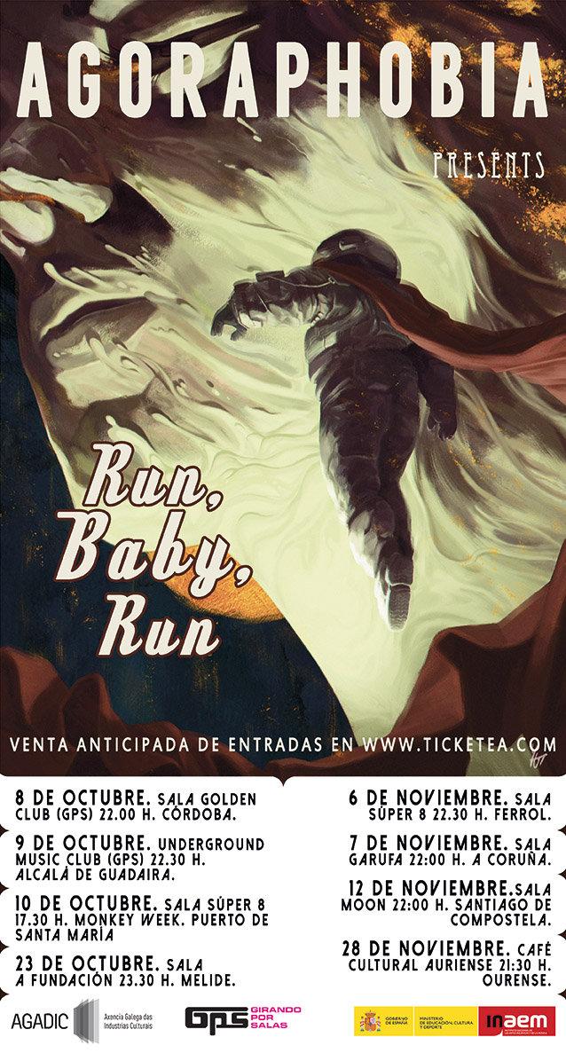 Primeras fechas de la gira Run, Baby, Run confirmadas