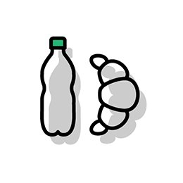 comida agua y ropa