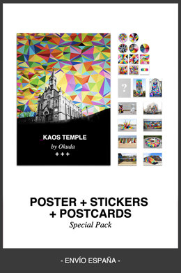 45 esp poster pegatinas postales