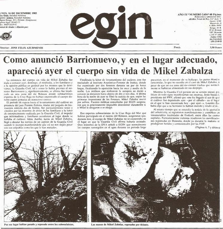 EGIN - 16/12/1985