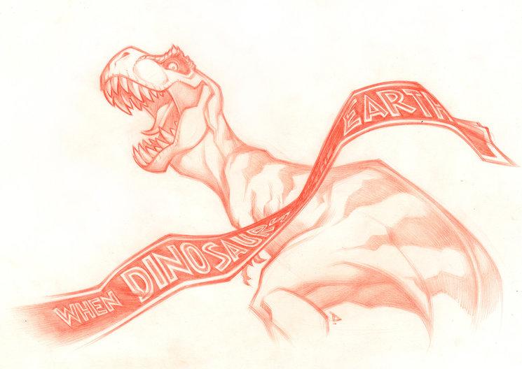 Cover T-REX a lápiz rojo