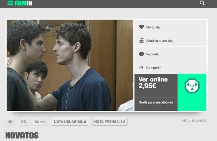 Novatos ya online en Filmin