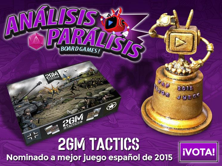 2GM TACTICS nominado a Mejor Juego Español en los Premios PAP 2015