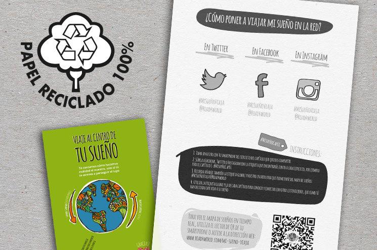 Libro papel reciclado 100% y con Mapa interactivo de sueños
