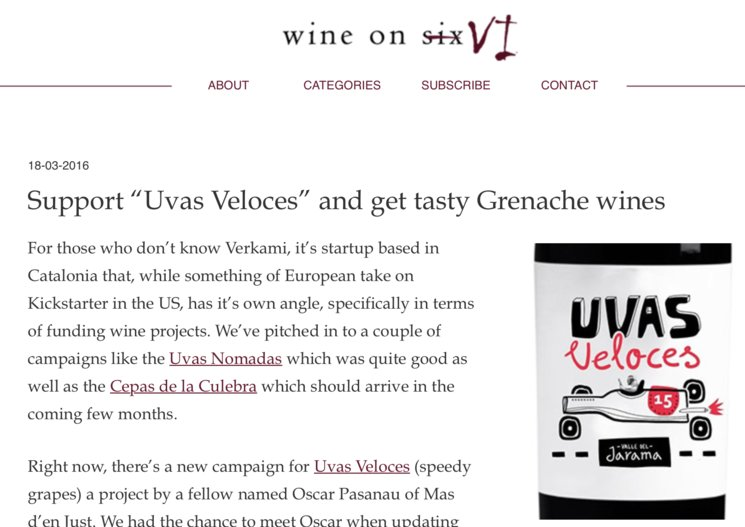 """Support """"Uvas Veloces"""" and get tasty Grenache wines"""