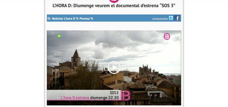 ESTRENA DE SOS3 A IB3
