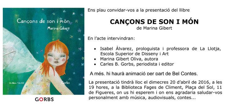 1ª Presentació Cançons de son i món (Figueres)