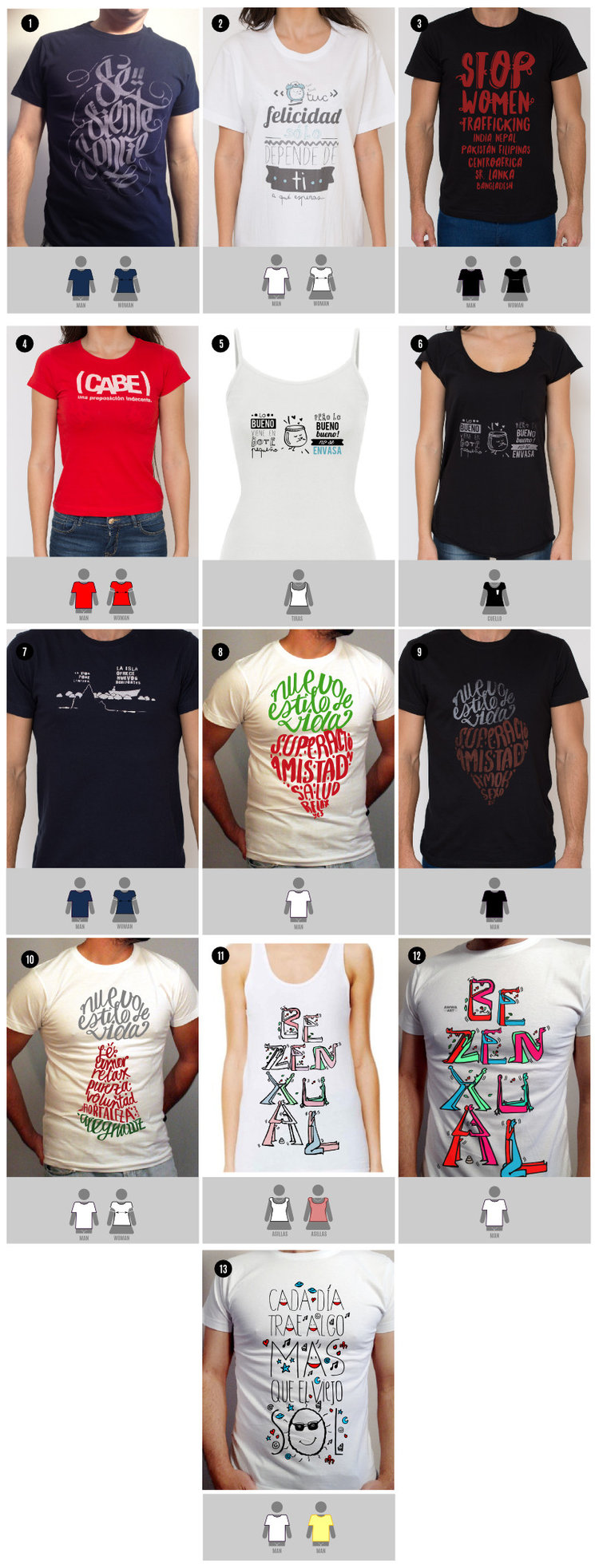 Tallado de camisetas Awwa art según modelos