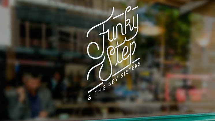 Vinyl sticker with the new logo from Funkystep & The Sey Sisters