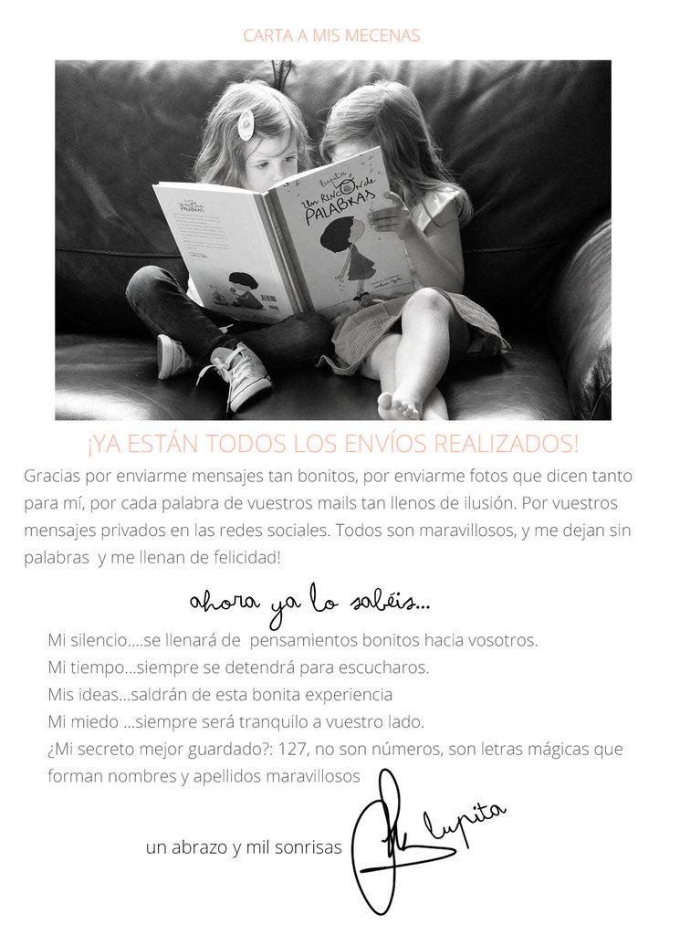 ¡Todos los envíos del mundo de Lupita y su cuento ya están realizados!