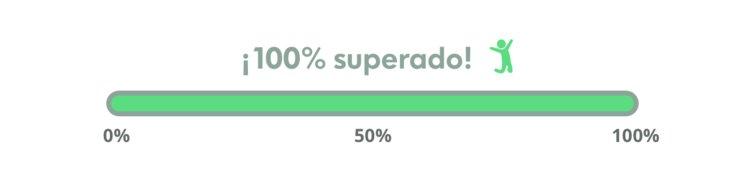¡100% conseguido, gracias y seguimos!
