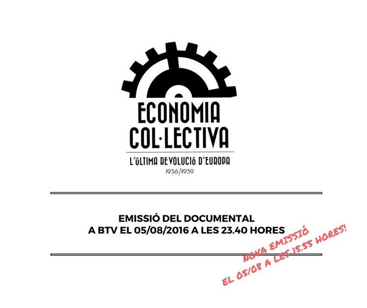 """Economia col·lectiva"", a BTV aquest divendres 5 d'agost"