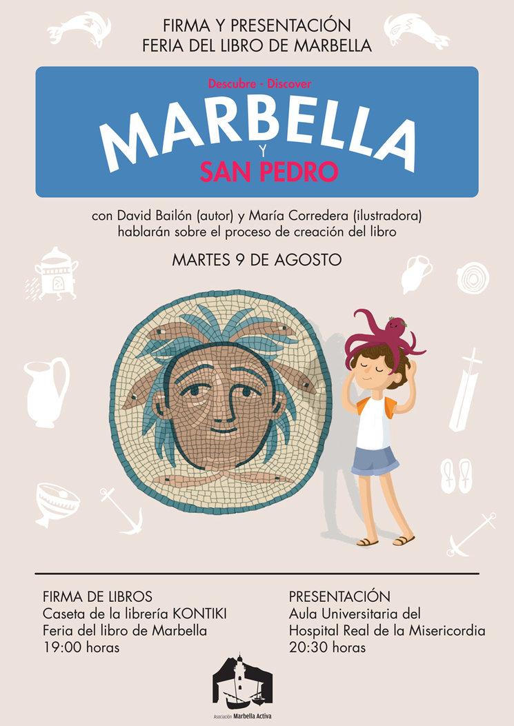 Firma y presentación del libro ilustrado DESCUBRE MARBELLA Y SAN PEDRO en la Feria del Libro de Marbella