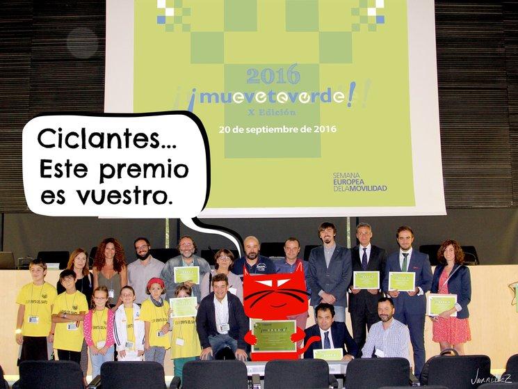 """Peráltez, premio """"Muévete verde"""" a la movilidad sostenible"""