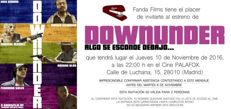 Downunder se estrenará en Madrid.