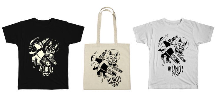 Camisetas, gatos astronautas y firmas