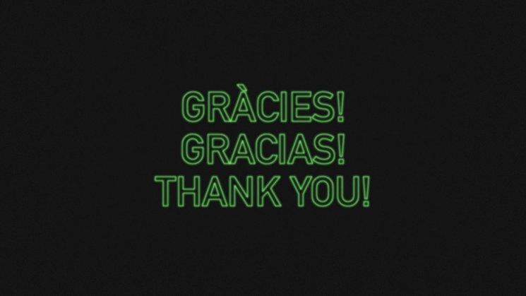Gracias, gràcies, thank you!