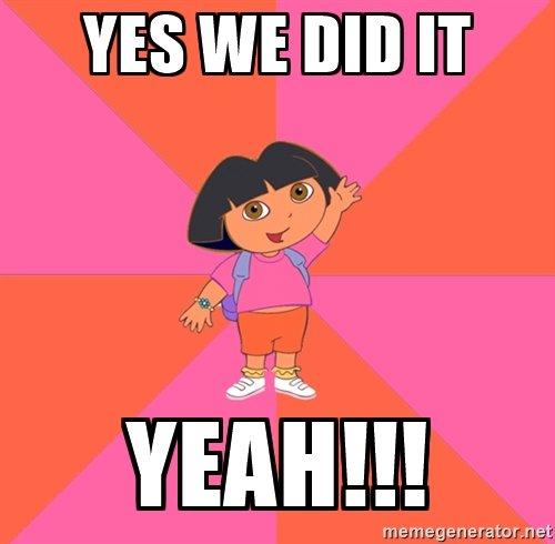 !Lo hicimos!