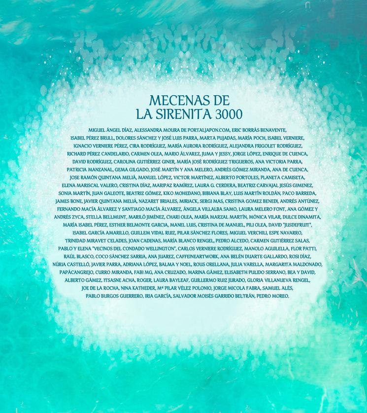 Listado de los mecenas de La Sirenita 3000