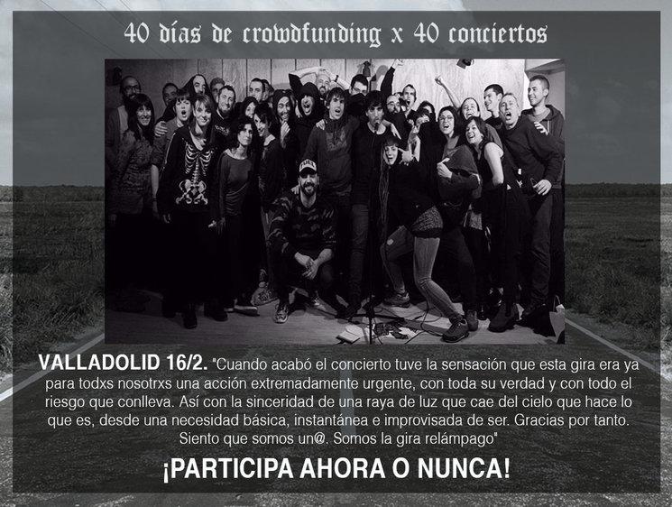 16/2/17, ¡gran concierto en Valladolid!