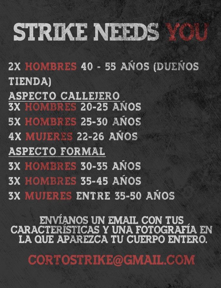 ¡Buscamos figurantes para STRIKE!