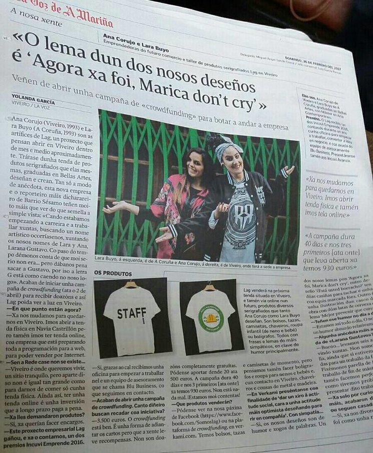 LAG en La Voz de A Mariña 26/02/2017