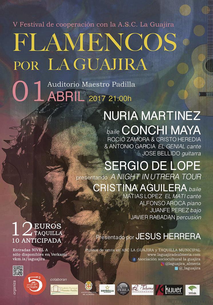 Cartel Del V Festival Flamencos Por La Guajira Impulsaguajira  # Muebles Pepe Jesus Vecindario
